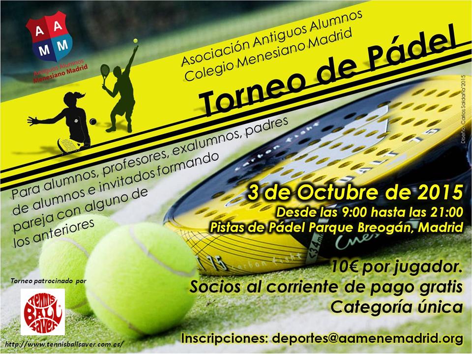 Torneo patrocinado por Tennis Ball Saver